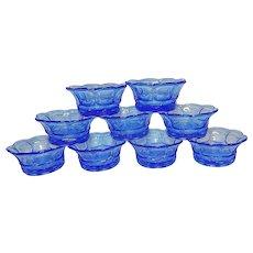 Vintage Fostoria Argus Blue Fruit or Dessert Bowls #2770