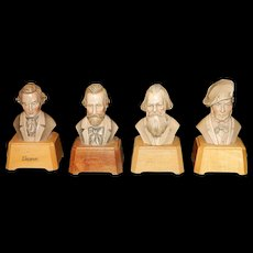 Vintage Anri Toriart Wood Famous Composers Music Boxes