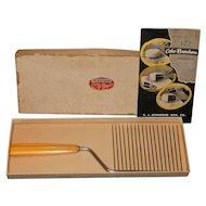 Vintage Schneider Cake Breaker with Butterscotch Bakelite Handle