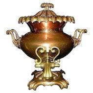 Antique Regency Period Copper & Brass Samovar or Tea Urn