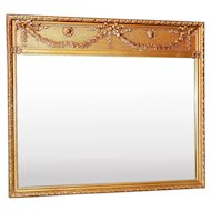 Antique Wood and Gesso Frame with Beveled Mirror
