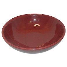 Vintage Hall Salad or Pasta Bowl #1282 Maroon