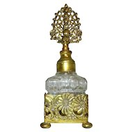 Vintage Ormolu Perfume Bottle with Dauber