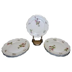 "Vintage Rosenthal Moss Rose China 6 ¼ "" Bread Plates Pompadour Pattern"