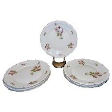"Vintage Rosenthal Moss Rose Large 10 ½"" China Dinner Plate Pompadour Pattern"