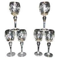 Vintage Intaglio Wine Glasses