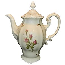 Rosenthal Moss Rose (POMPADOUR pattern) 9 in, 8 CUP China Coffee Pot  & Lid