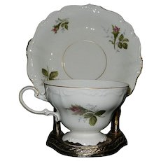 Vintage Rosenthal Moss Rose Standard Cup and Saucer in the Pompadour Pattern Circa: 1950 – 1964