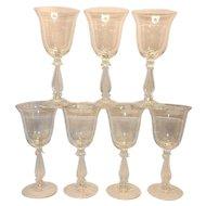 Vintage Cambridge Regency Stradivari Stem Water Goblet Pattern 3573