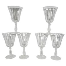 Vintage Fostoria Silver Flutes Water Goblets