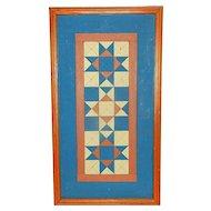 Vintage Geometric Wood Folk Art Design