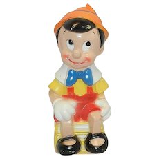 Vintage Walt Disney Pinocchio Plastic Bank by Play Pal Plastics Inc.
