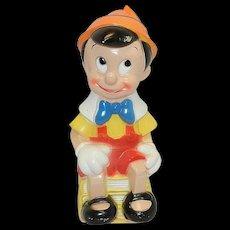 Vintage Walt Disney Pinocchio Plastic Bank by Play Pal Plastics Inc.