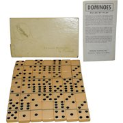 Vintage Butterscotch Color Catalin Dominoes by Cardinal # 640 Thick