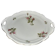 Rosenthal Moss Rose POMPADOUR Pattern Handled Cake Plate
