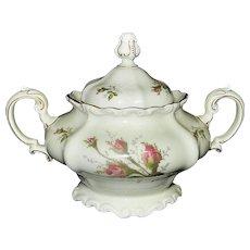 Rosenthal Moss Rose POMPADOUR Pattern Large Sugar Bowl
