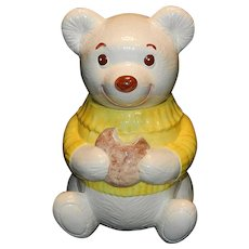 Vintage Poppy Trail Metlox Smiling Bear Cookie Jar