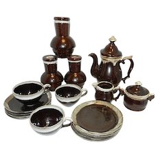 Vintage Drip Ware Coffee Set