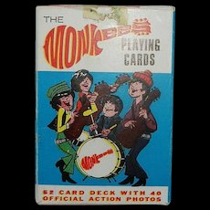 Vintage 1966 Monkees Playing Cards with Box by Ed-u-Cards Mfg. Co.