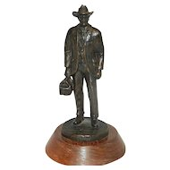"Vintage J Hamilton Signed  Bronze Sculpture Title ""Doc"""