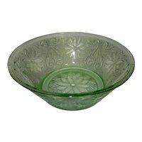 Vintage Sandwich Glass Light Green (Chantilly) Vegetable Bowl by TIARA