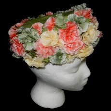 Vintage Jan Leslie Custom Design Hat with Flowers