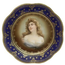Vintage Z S and Co. Bavaria Felicitas Lady Portrait Art Plate