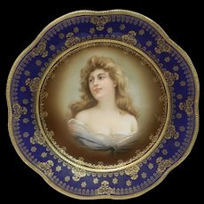 Vintage Z S and Co. Bavaria Felicitas Lady Portrait Art Plate