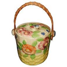 Vintage Made In Japan Ceramic Cookie / Biscuit Jar