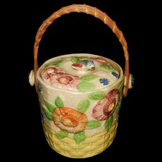 Vintage Made In Japan Ceramic Cookie / Biscuit Jar