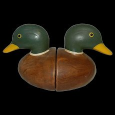 Vintage Ceramic Duck Head Bookends