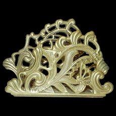 Vintage Brass Letter or Napkin Holder