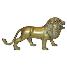 Vintage Brass Lion Figurine
