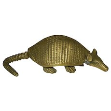 vintage Brass Armadillo Figurine or Paperweight