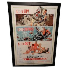 Vintage James Bond Thunderball (United Artists, 1965) Original Movie Poster