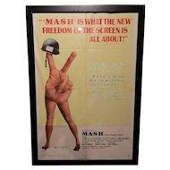 Vintage Original One Sheet 1970 27 x 41 Mash Movie Poster