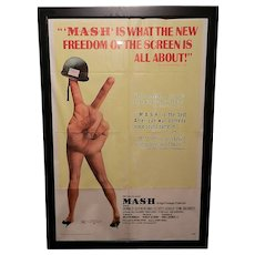 Vintage Original One Sheet 1970 27 x 41 Mash Movie Poster