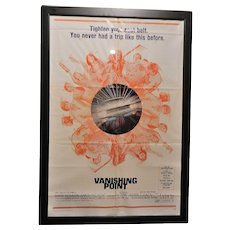 Vintage Original (1971) One Sheet 27 x 41 Vanishing Point Movie Poster
