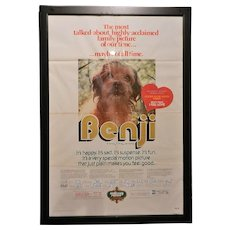 Vintage Benji 1975 Original One Sheet 27 x 41 Movie Poster