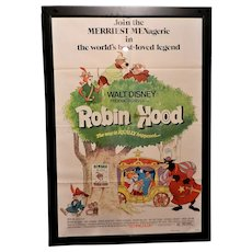 Vintage Walt Disney Robin Hood Original 1973 One-Sheet Movie Poster (27x41)