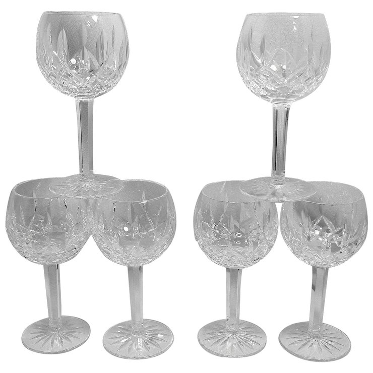 Vine Waterford Crystal Lismore Pattern Balloon Wine Gles My