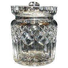 Vintage Waterford Crystal Lismore Pattern Biscuit Barrel
