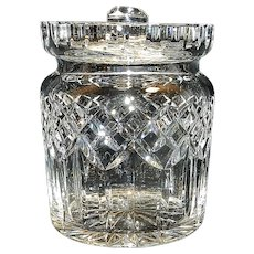 Vintage Waterford Crystal Lismore Pattern Biscuit Barrel