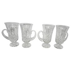 Vintage Waterford Crystal Lismore Pattern Irish Coffee Mugs