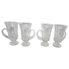 Vintage Waterford Crystal Lismore Pattern Irish Coffee Mugs