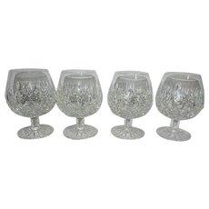 Vintage Waterford Crystal Lismore Pattern Brandy Glasses