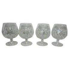 Vintage Waterford Crystal Lismore Pattern Brandy Glasses