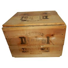 George Dickel Genuine Sour Mash Whiskey Wood Transport Box