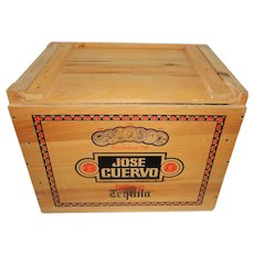 "Jose Cuervo 1981 Wood ""Bust Loose"" Promotional Tequila Box"