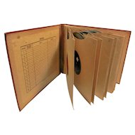 Vintage 78 RPM Records with Storage Album Holder-. Various Artist and Labels